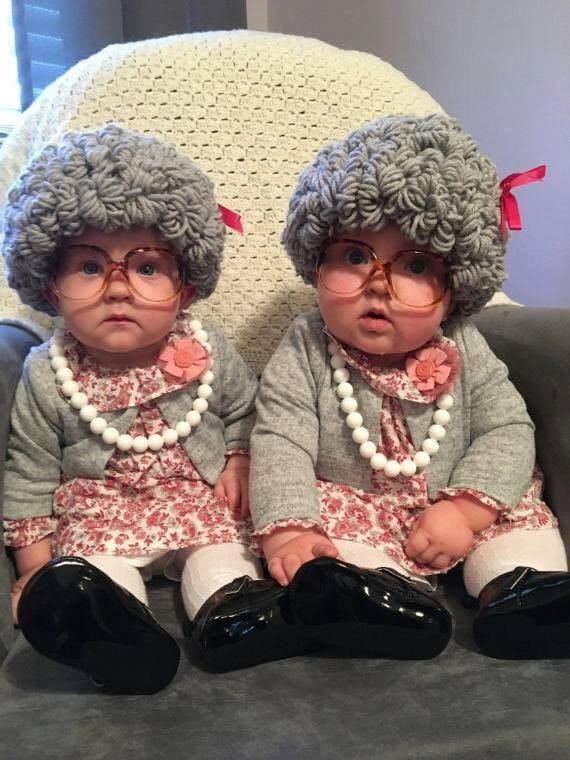 little old ladies baby halloween costume