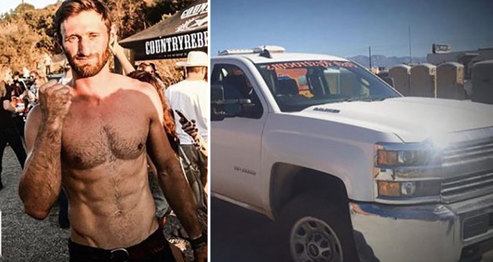 marine stole truck text owner Vegas