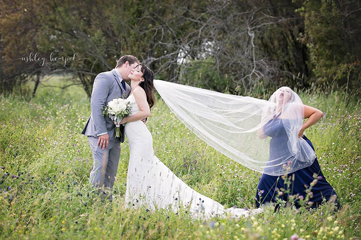 Photographer Asks Maid Of Honor To Join Bride And Groom