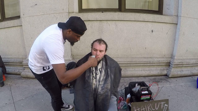 barber for homeless gets a new shop from stranger