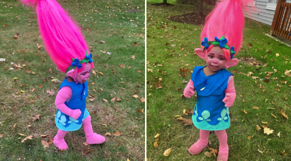 Mom Transforms Her Daughter Into Poppy From Trolls For Halloween