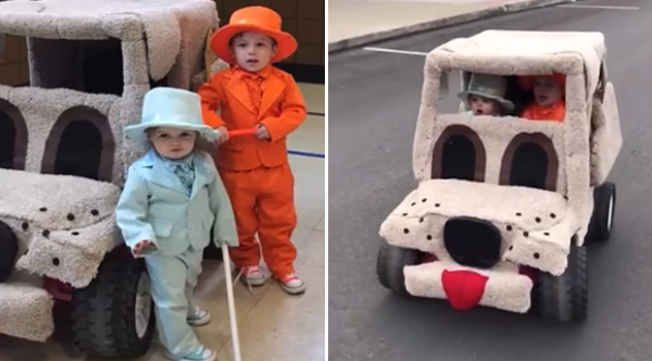 Mom Nails Dumb And Dumber Halloween With Her Two Little Boys
