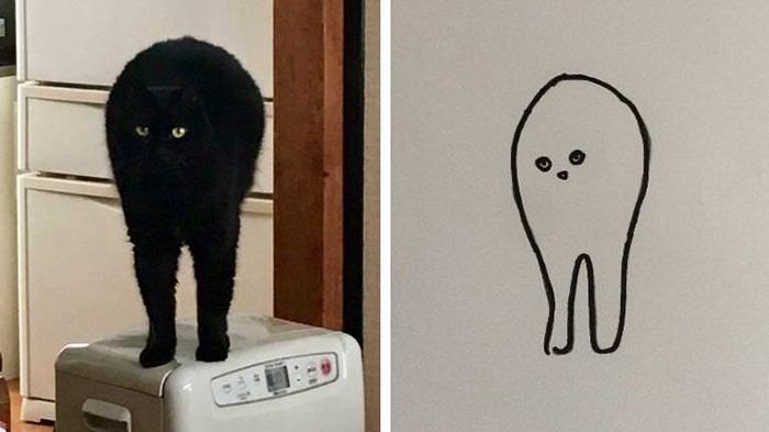 minimal cat art