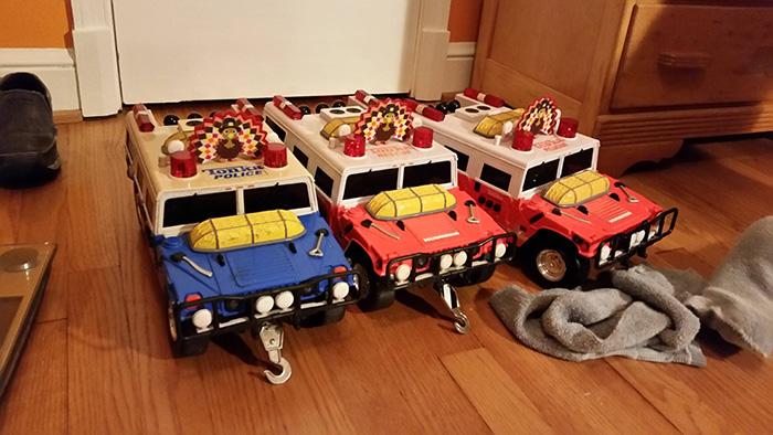 tonka blue truck Christmas mental disability