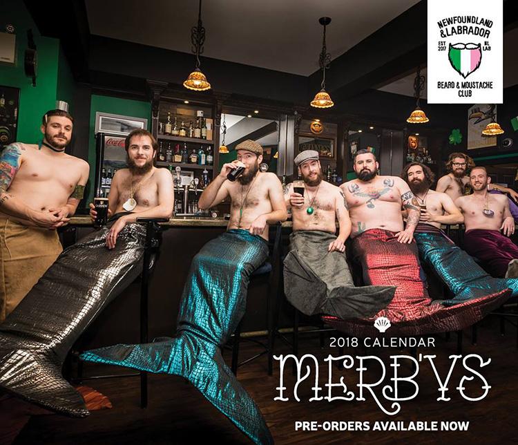 mermen calendar bearded men therapy horses