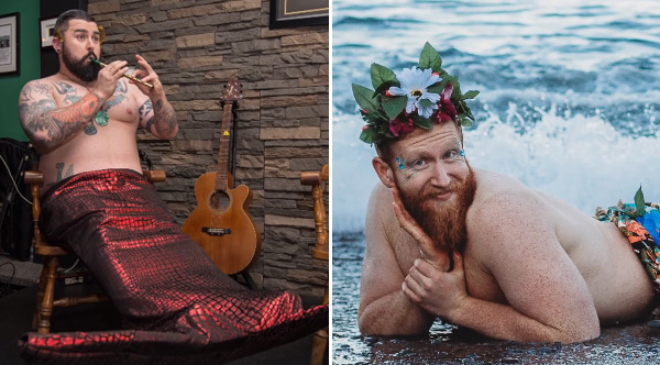 Call From A Different Number >> Bearded Men Pose In Merman Calendar To Raise Money For Charity