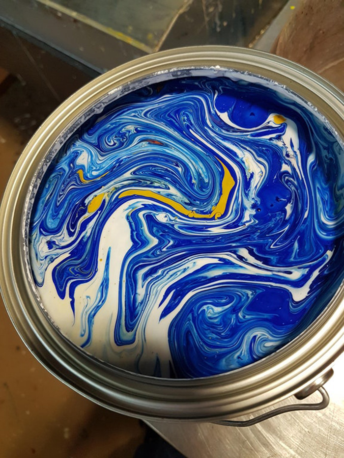 unstirred paint oddly beautiful