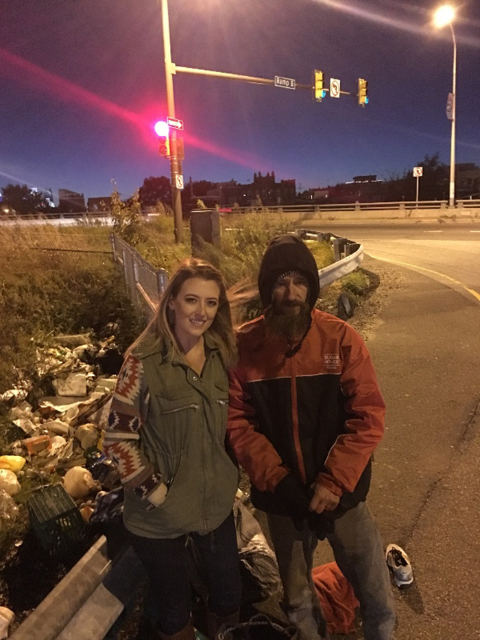 woman raises thousands for homeless veteran