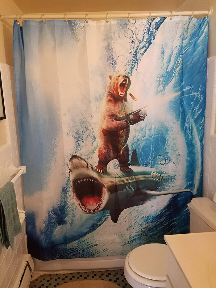 People Are Sharing Photos Of Their Shower Curtains And We Cant Stop