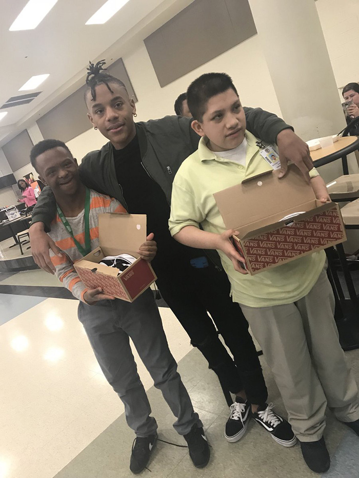 kids with special needs new shoes Roderick Mathis LHS