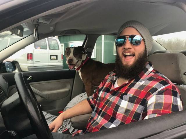 man volunteers to drive dog home to kansas from maryland