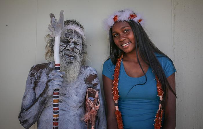 aboriginal man travels 2000 miles to see granddaughter graduate