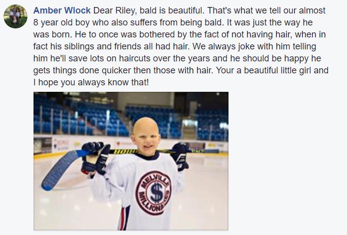 riley bald dad shaves head video