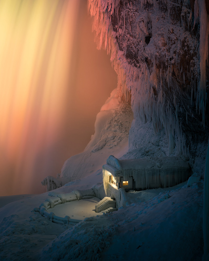 Niagara falls frozen fire ice