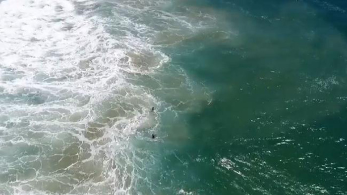 lifeguards use drone to rescue swimmers from drowning