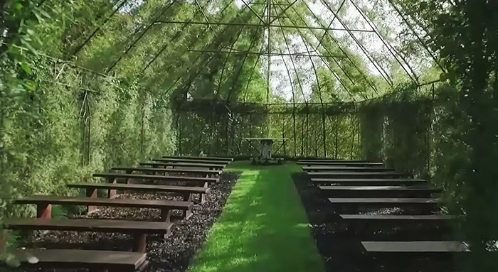 church made of trees