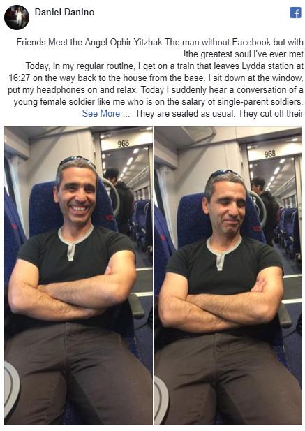man pays womans bill on train
