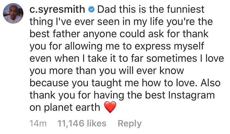 jaden smith response to dad video