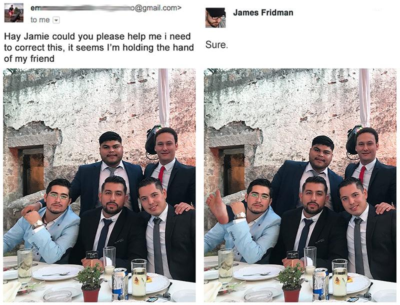 photoshop artist denies girls request