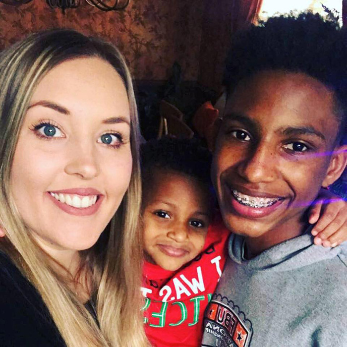 teacher adopts student and baby good news chelsea haley