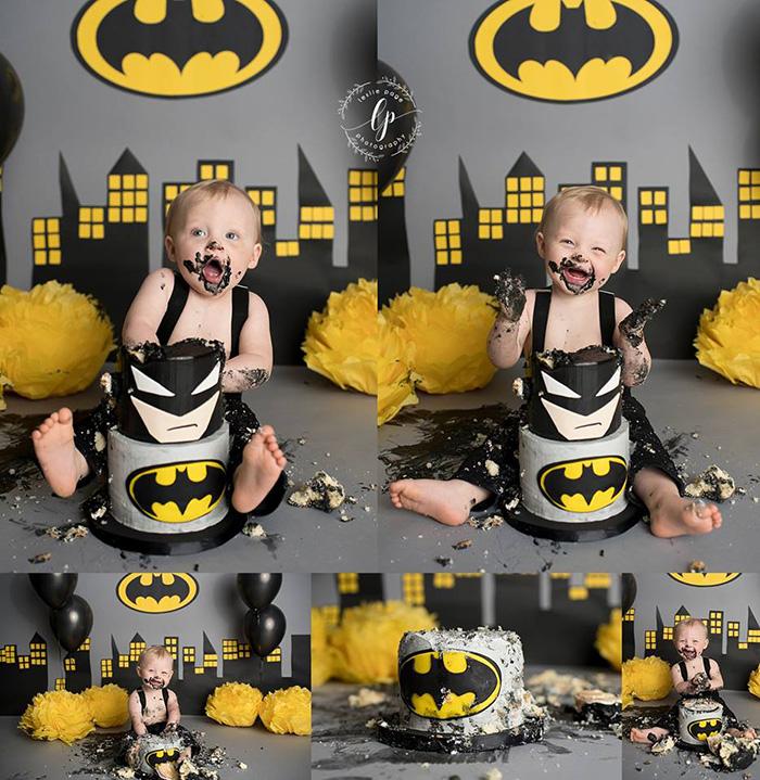 baby batman smash cake