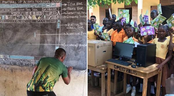 Ghanaian Teacher Who Drew Microsoft Word On A Chalk Board