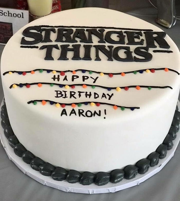 stranger things cast supports kid birthday
