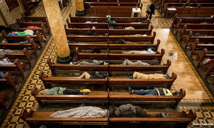 church lets homeless sleep inside gubbio project