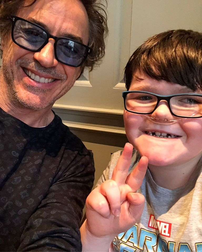 robert downey junior meets terminally ill boy