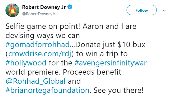 robert downey junior meets terminally ill boy ROHHAD