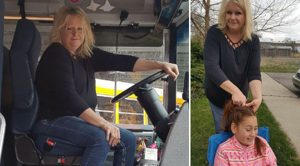 School Bus Driver Braids Hair Every Morning For Girl Who