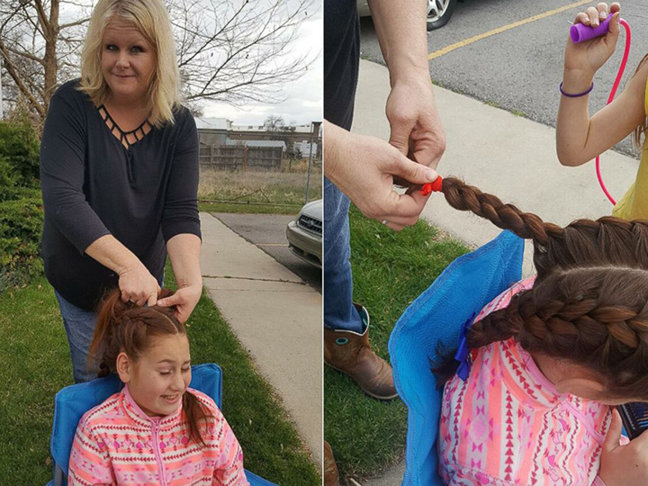tracy dean bus driver braids girls hair every morning