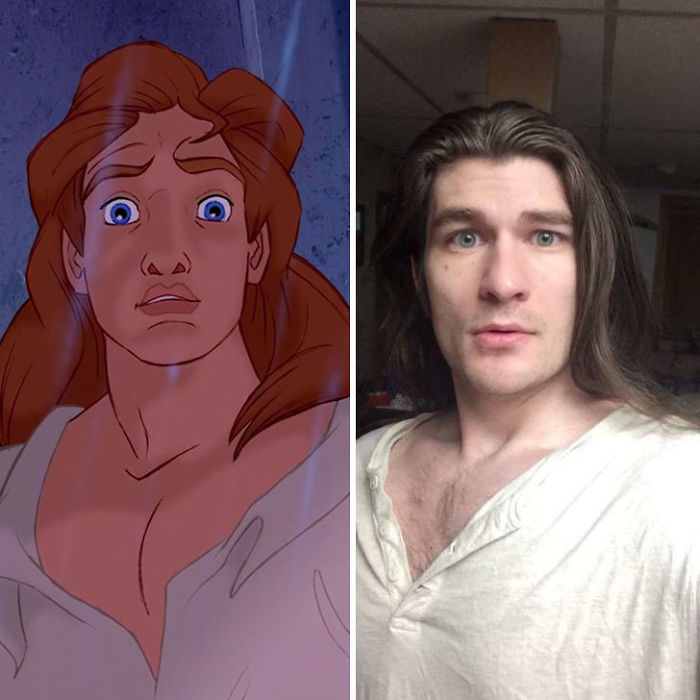 man looks like disney prince lost weight