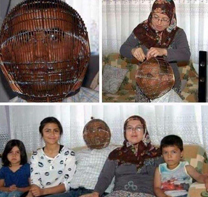 man locks head in cage to quit smoking