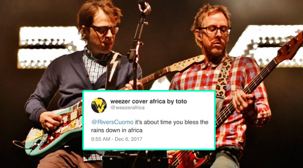 Weezer Responds To Fan-Led Campaign And Covers 'Africa' By Toto