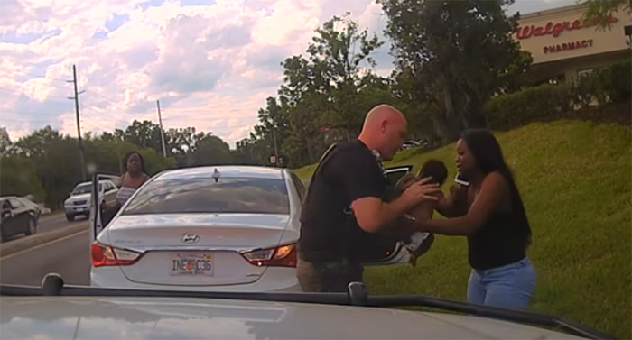 good news police officer saves baby