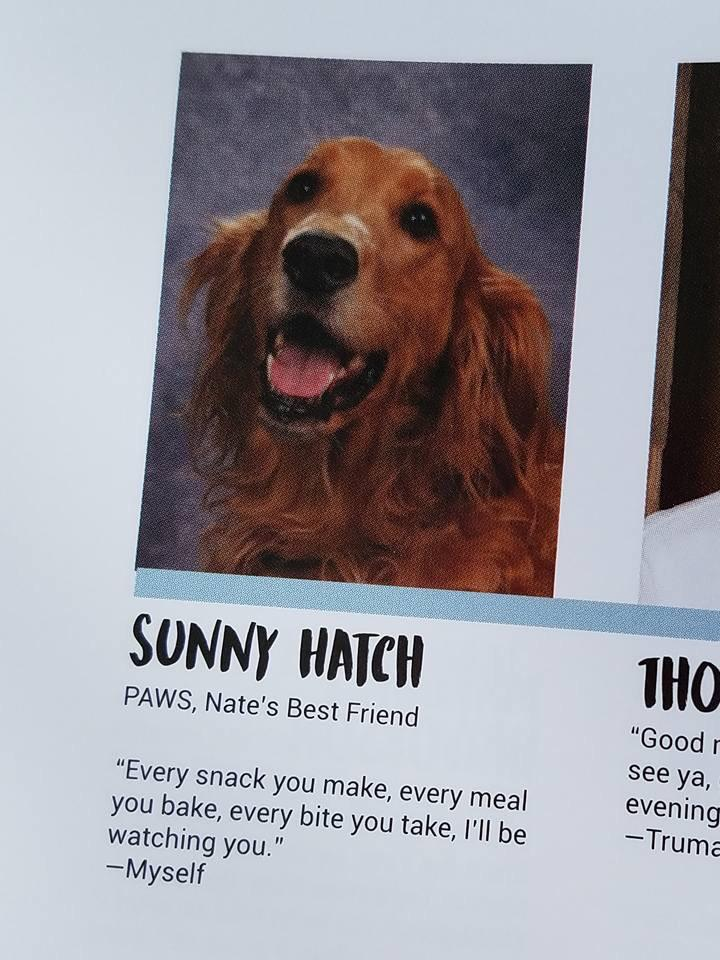 service dog yearbook photo