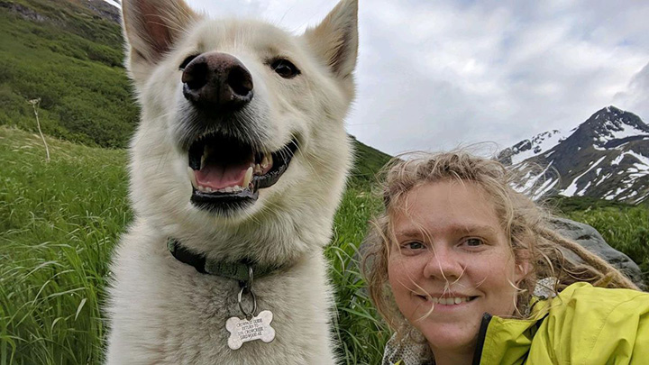 dog saves injured hiker