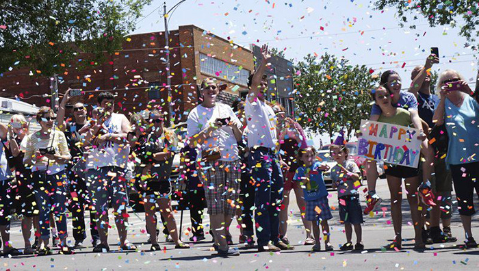 town throws parade for 107 year old woman Myda Lewis