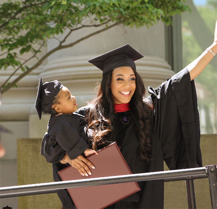 single mom graduates harvard law with newborn