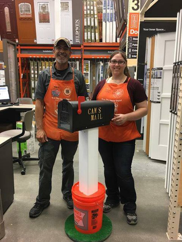 homed depot employees make mailbox for boy autism kindness