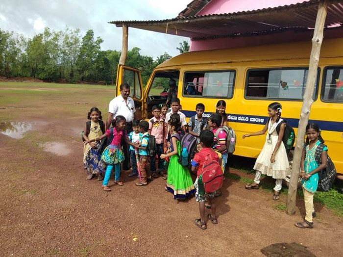 teacher in India buy bus to make sure kids get to school Rajaram