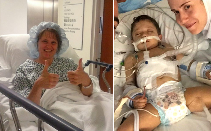 mother meets sons lifesaving donor first time