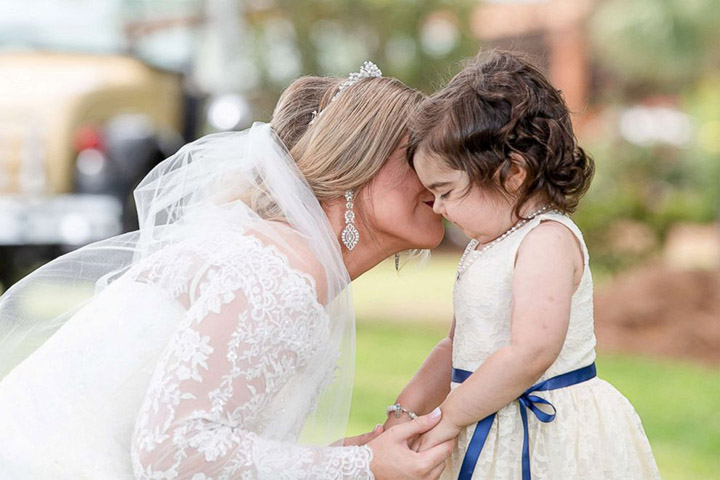 3 year old cancer survivor flower girl