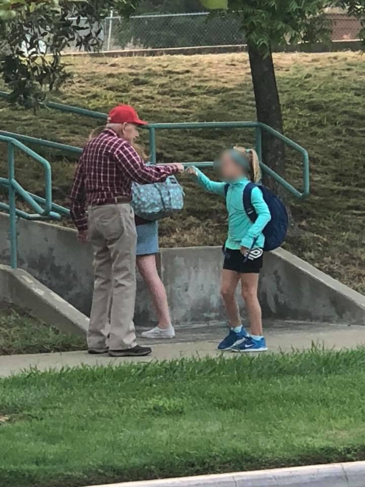 cute little old man at school