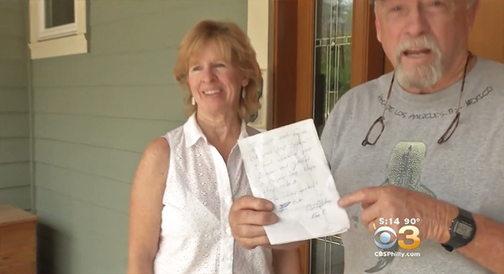 firefighter note for couple evacuated home wildfire