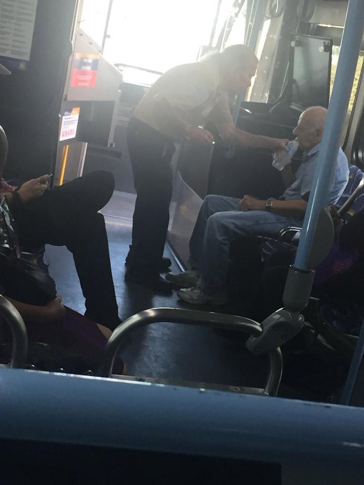bus driver mike blair elderly man water