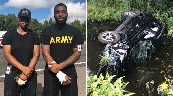 Siblings Lift Overturned Suv And Save Family With Newborn