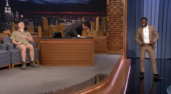 Watch The Hilarious Animal Interview With Robert Irwin And Kevin Hart On Jimmy Fallon