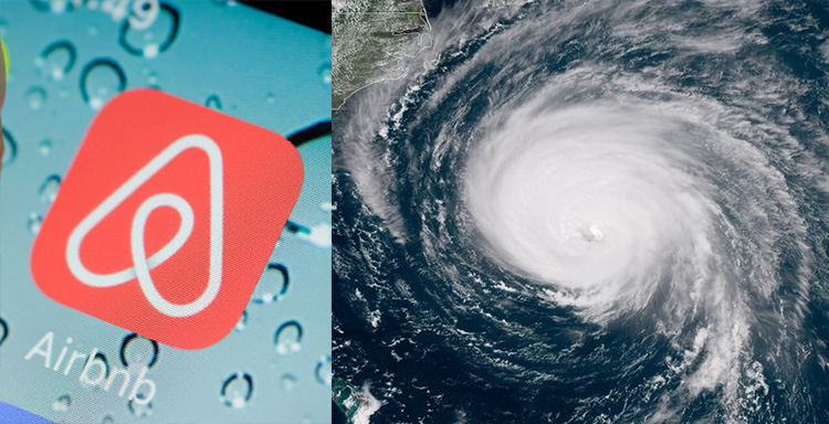 airbnb hosts free rooms hurricane